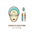 cosmetic injections beauty injections thin line vector image vector image