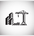 crane on construction yard on white background vector image