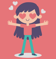 Cute Girl Crazy in Love vector image vector image