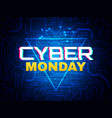 cyber monday concept advertisement banner online vector image