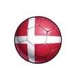 danish flag football - soccer ball vector image vector image