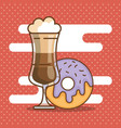 delicious coffee time elements vector image vector image