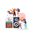 disco party concept for web banner website vector image vector image