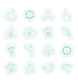 Ecology and Recycling icons vector image vector image