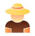 farmer flat icon gardener color icons in trendy vector image vector image