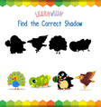 Find the correct Animals shadow vector image