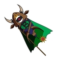 fireworks bull with angry facial expression vector image
