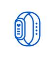 fitness bracelet icon isolated on white background vector image