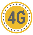 flat 4g template with speed meter icon and wave vector image vector image