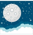 Full moon on background of the night sky vector image vector image