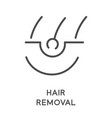 hair removal sugaring or waxing laser and vector image vector image