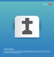 halloween grave cross icon - blue sticker button vector image