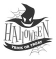 halloween trick or treat logo sign vector image vector image