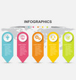 infographic design template for business vector image vector image