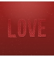 Love Word Valentines Day red paper Type vector image vector image