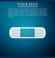medical bandage plaster icon on blue background vector image vector image