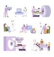 oncology flat set vector image