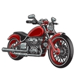 Red color motorcycle vector image