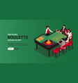 roulette casino isometric banner vector image vector image