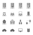 Server Hosting Icons vector image