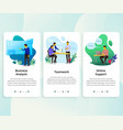 set of onboarding screens user interface kit vector image