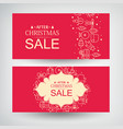 set of two christmas sale banners vector image