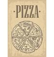 Set slice pizza Pepperoni Hawaiian Margherita vector image vector image