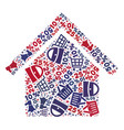shopping collage of mosaic house icon vector image