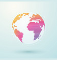 simple striped color world globe vector image vector image