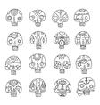 skulls outlines set vector image