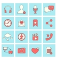 social network icons flat line vector image vector image