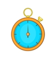 Stopwatch icon in cartoon style vector image