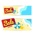 summer sale promotion banner offer set vector image vector image
