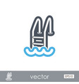 swimming pool outline icon summer vacation vector image