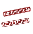 Two realistic Limited Edition rubber stamps vector image