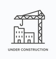 under construction flat line icon outline vector image vector image