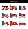 world war one waving flag set vector image vector image