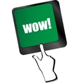 wow button on computer keyboard key vector image vector image