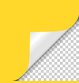 yellow page twisted angle from shadow to vector image