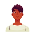 Young african man face angry facial expression vector image