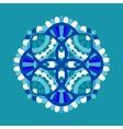 Cold floral mandala vector image