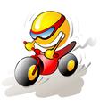 funny bike rider vector image