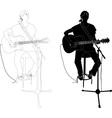 girl playing guitar vs vector image
