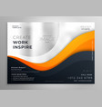 abstract business brochure design template vector image vector image