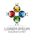 abstract logo ladybug vector image