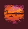 african landscape at sunset and dawn background vector image