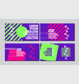 banner design template abstract background vector image