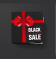 black friday sale black cardboard box tied with a vector image vector image