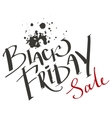 Black Friday Sale Lettering text vector image