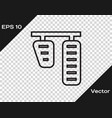 black line car gas and brake pedals icon isolated vector image vector image